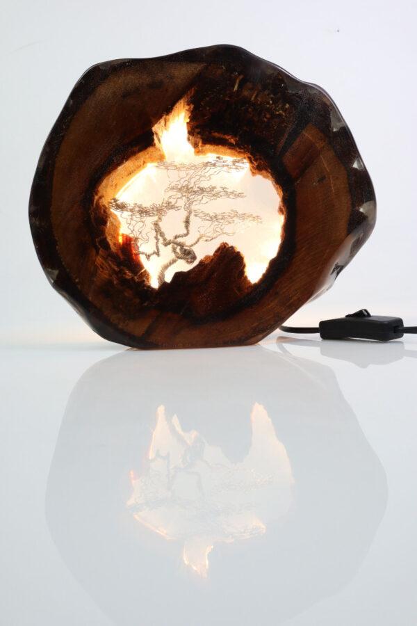 epoxi műgyanta lámpa asztalilámpa fali lámpa ajándék drótfa-réz-acél-alumínium horgany 111.1
