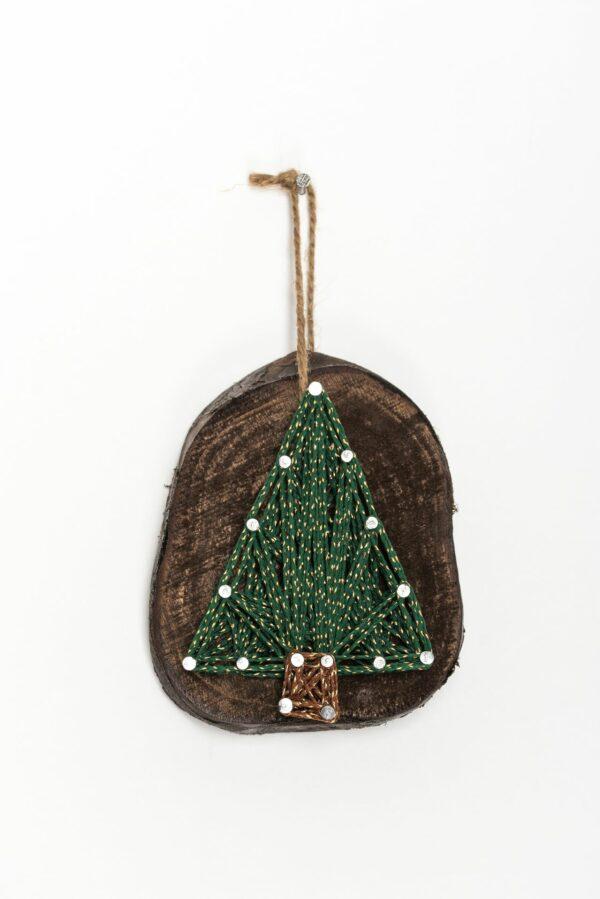 ajándék karácsony faldísz fonalkép madzagkép karácsonyfadísz 78 2