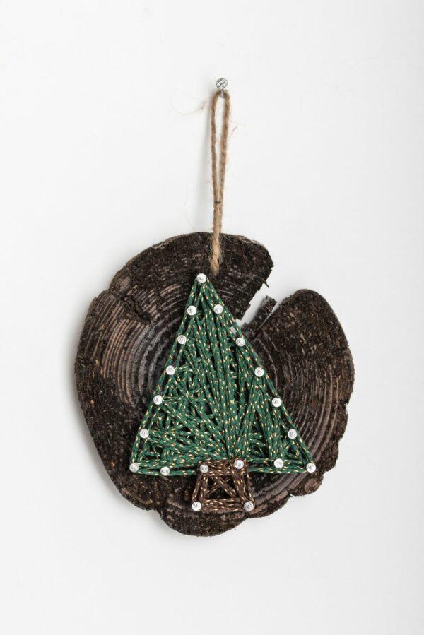 ajándék karácsony faldísz fonalkép madzagkép karácsonyfadísz 78 7