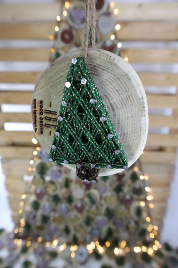 ajándék karácsony karácsonyfadísz faldísz fonálkép madzagkép-54