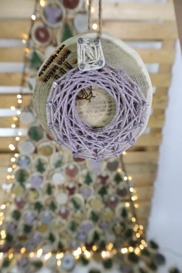 ajándék karácsony karácsonyfadísz faldísz fonálkép madzagkép-55