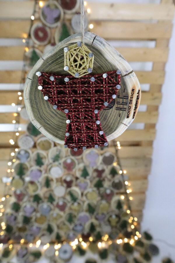 ajándék karácsony karácsonyfadísz faldísz fonálkép madzagkép-56