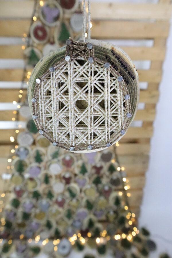 ajándék karácsony karácsonyfadísz faldísz fonálkép madzagkép-58