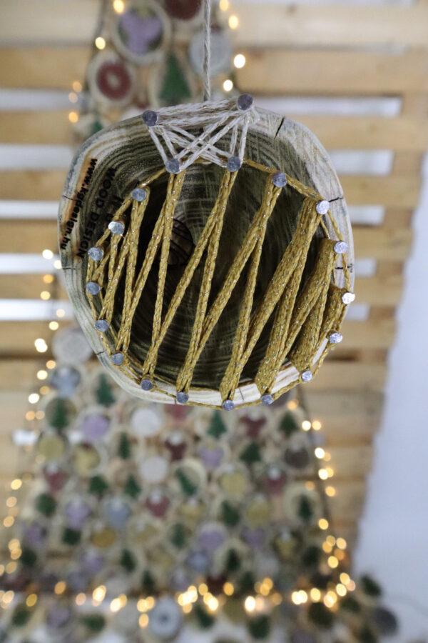 ajándék karácsony karácsonyfadísz faldísz fonálkép madzagkép-59