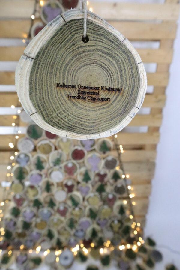 ajándék karácsony karácsonyfadísz faldísz fonálkép madzagkép-62