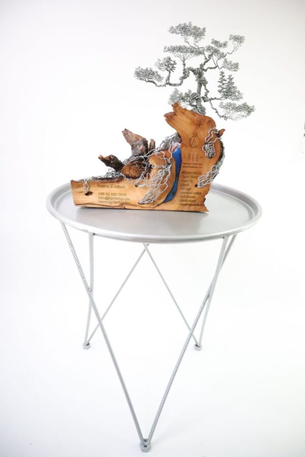 ajándék műgyanta drótfa réz acél alumínium horgany 96.10