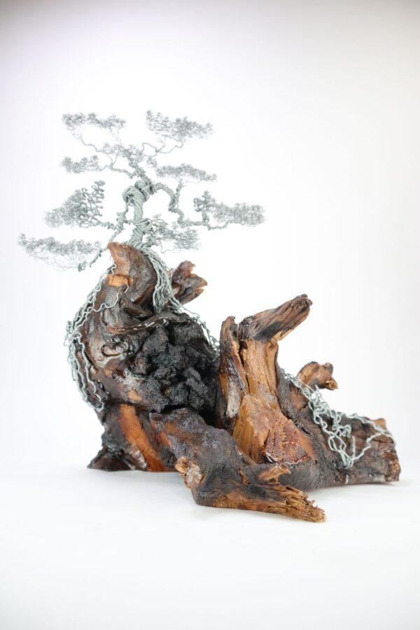 ajándék műgyanta drótfa réz acél alumínium horgany 96.3