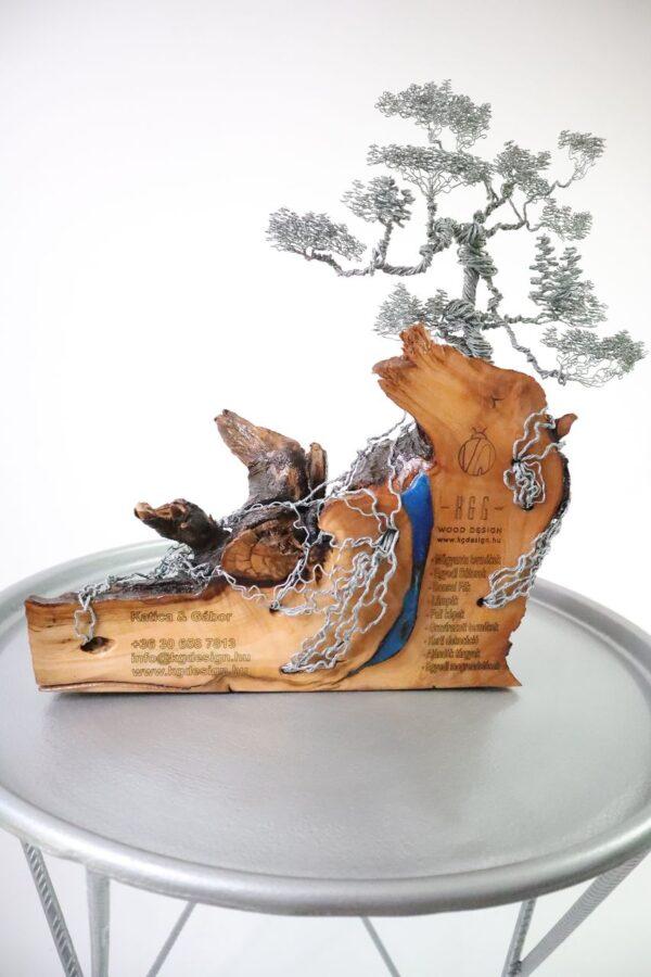 ajándék műgyanta drótfa réz acél alumínium horgany 96.4