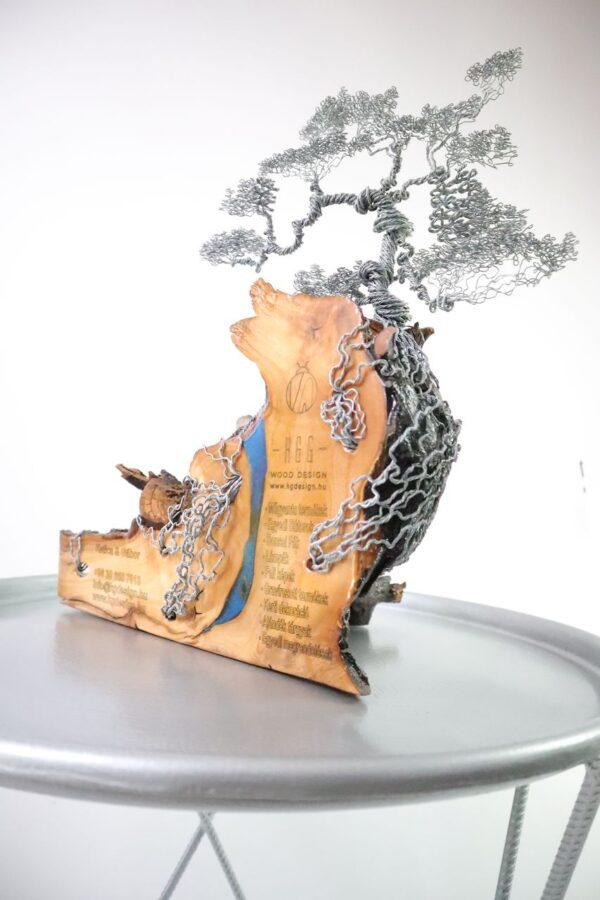 ajándék műgyanta drótfa réz acél alumínium horgany 96.8