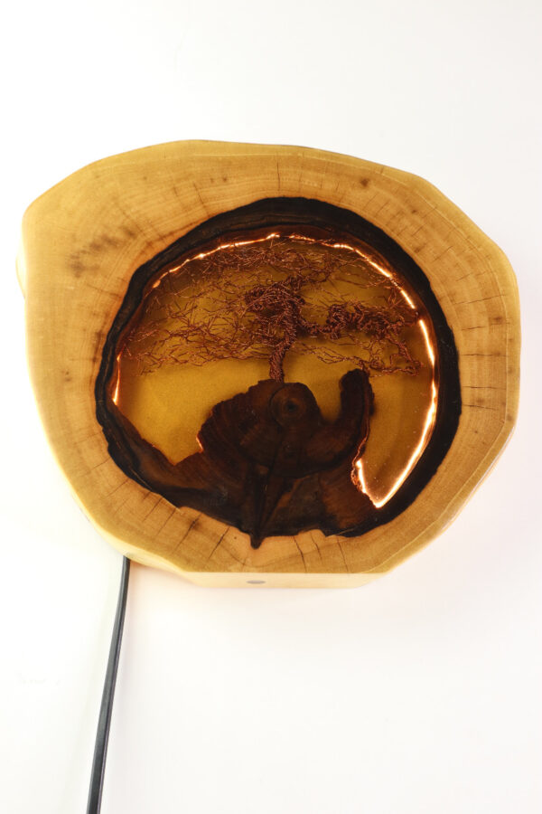 epoxi műgyanta lámpa asztali lámpa fali lámpa ajándék drótfa-réz-acél-alumínium horgany 110