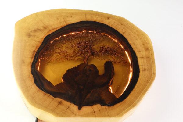 epoxi műgyanta lámpa asztali lámpa fali lámpa ajándék drótfa-réz-acél-alumínium horgany 110.1