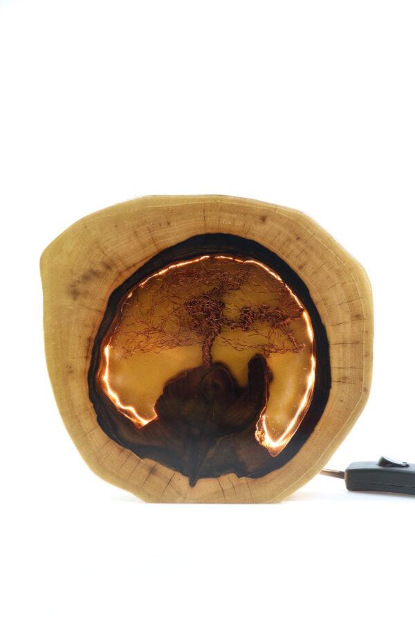 epoxi műgyanta lámpa asztalilámpa fali lámpa ajándék drótfa-réz-acél-alumínium horgany 110.2