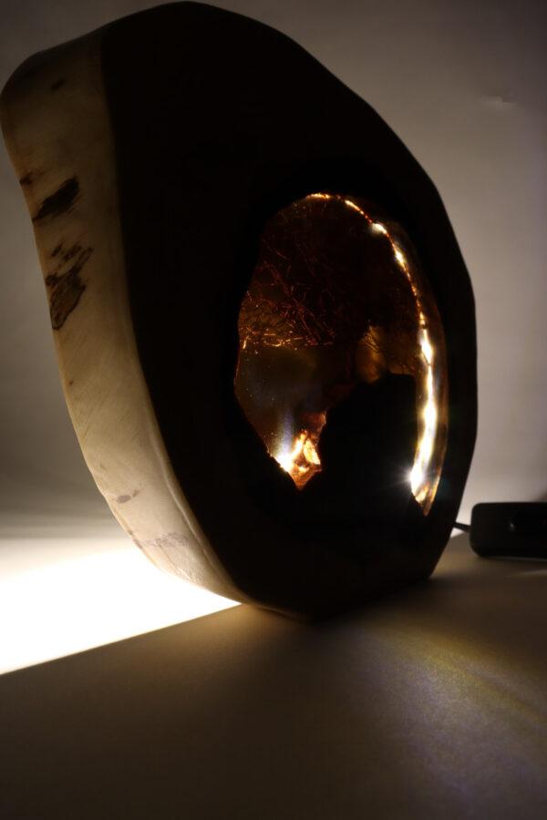 epoxi műgyanta lámpa asztali lámpa fali lámpa ajándék drótfa-réz-acél-alumínium horgany 110.5