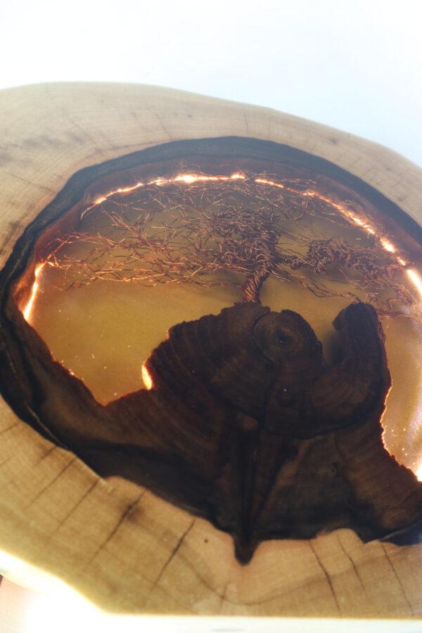 epoxi műgyanta lámpa asztali lámpa fali lámpa ajándék drótfa-réz-acél-alumínium horgany 110.6