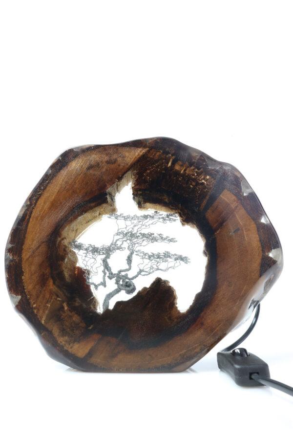 epoxi műgyanta lámpa asztalilámpa fali lámpa ajándék drótfa-réz-acél-alumínium horgany 111