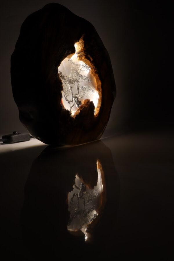 epoxi műgyanta lámpa asztalilámpa fali lámpa ajándék drótfa-réz-acél-alumínium horgany 111.2