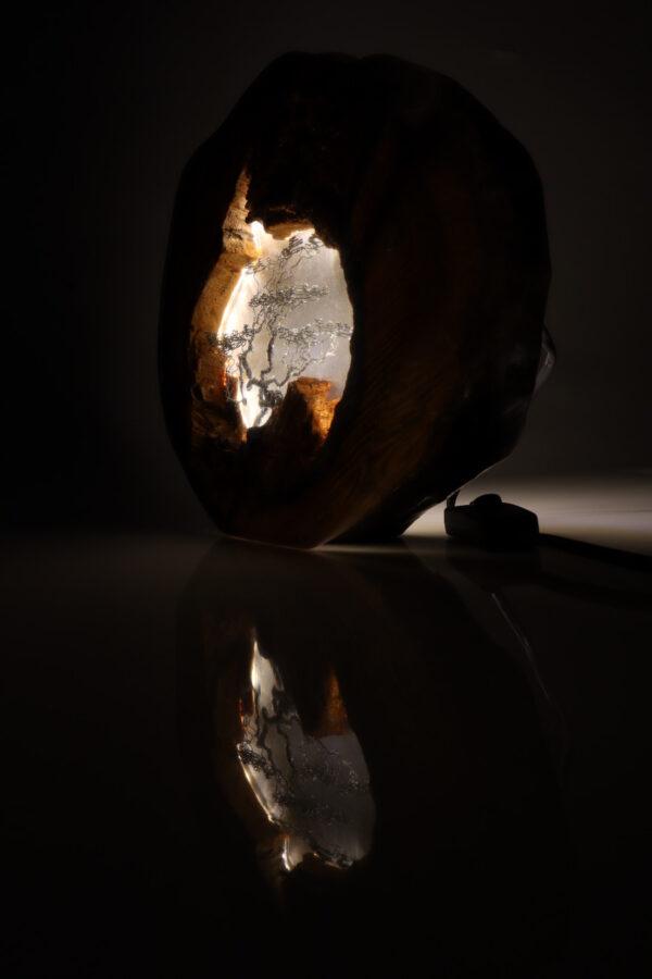 epoxi műgyanta lámpa asztalilámpa fali lámpa ajándék drótfa-réz-acél-alumínium horgany 110.3