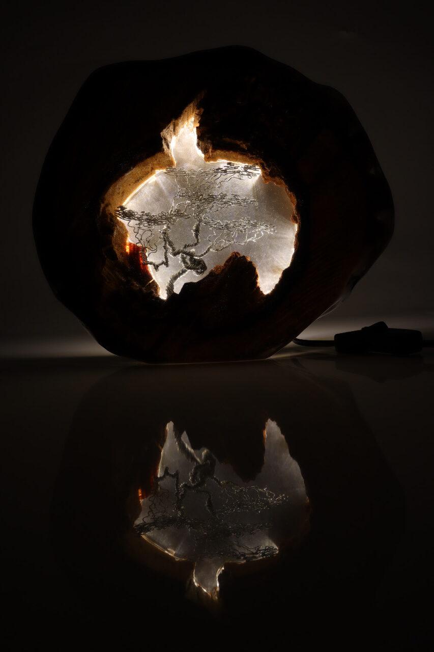 epoxi műgyanta lámpa asztalilámpa fali lámpa ajándék drótfa-réz-acél-alumínium horgany 110.4