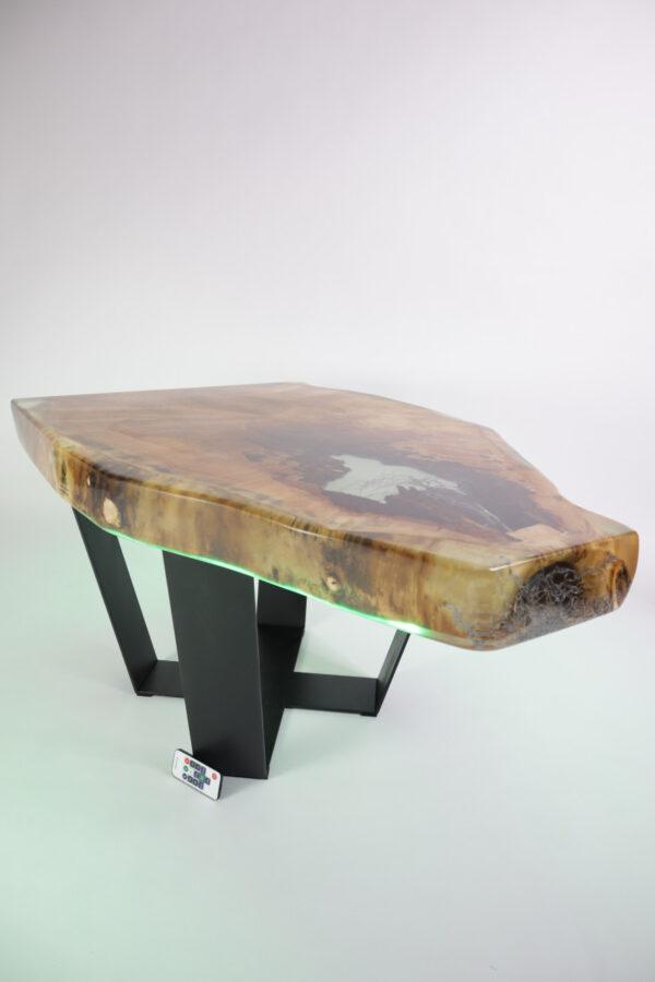 műgyanta asztal ajándék drótfa led lámpa réz acél alumínium horgany 107