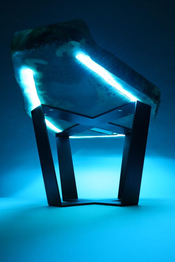 műgyanta asztal ajándék drótfa led lámpa réz acél alumínium horgany 107.16