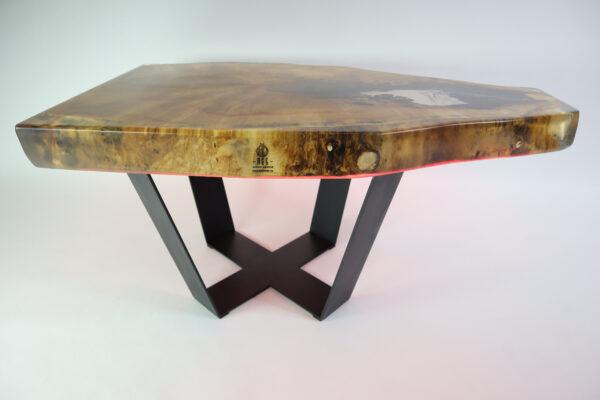 műgyanta asztal ajándék drótfa led lámpa réz acél alumínium horgany 107.2