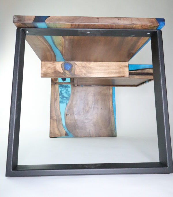 műgyanta asztal ajándék drótfa réz acél alumínium horgany-104