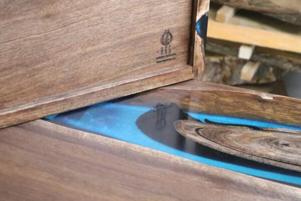 műgyanta asztal ajándék drótfa réz acél alumínium horgany-104.1
