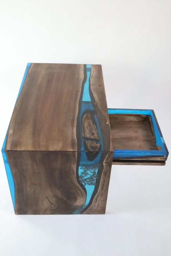 műgyanta asztal ajándék drótfa réz acél alumínium horgany-104.10