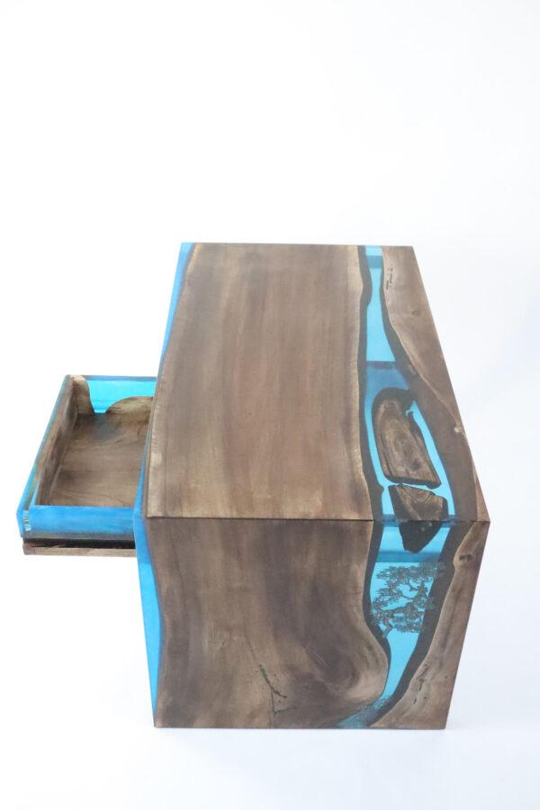 műgyanta asztal ajándék drótfa réz acél alumínium horgany-104.11