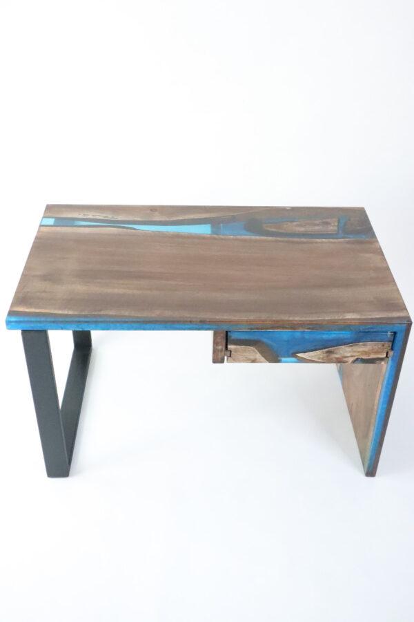 műgyanta asztal ajándék drótfa réz acél alumínium horgany-104.12