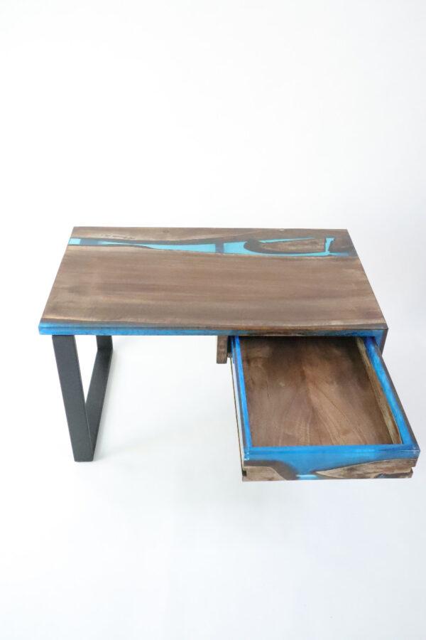 műgyanta asztal ajándék drótfa réz acél alumínium horgany-104.13