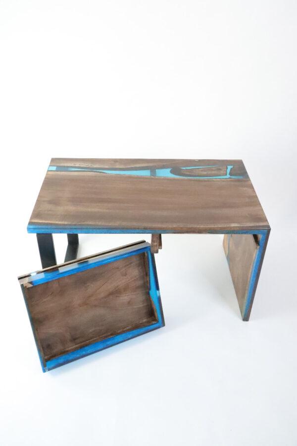 műgyanta asztal ajándék drótfa réz acél alumínium horgany-104.14
