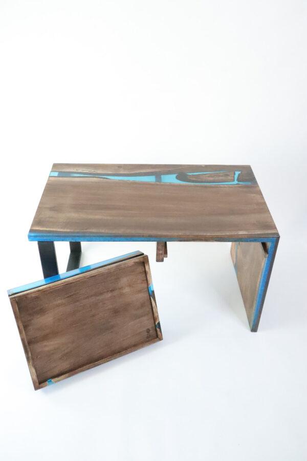 műgyanta asztal ajándék drótfa réz acél alumínium horgany-104.15
