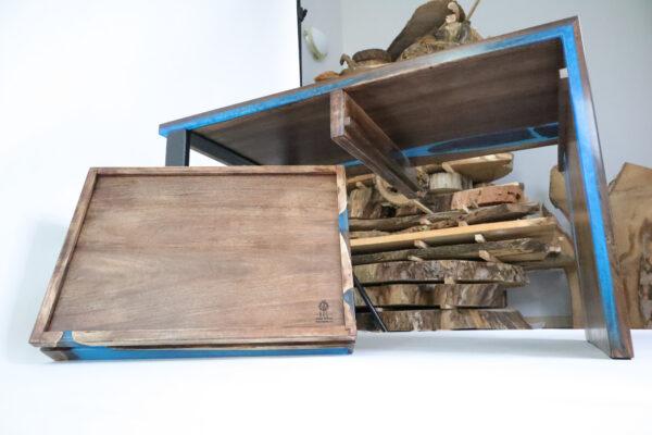 műgyanta asztal ajándék drótfa réz acél alumínium horgany-104.3