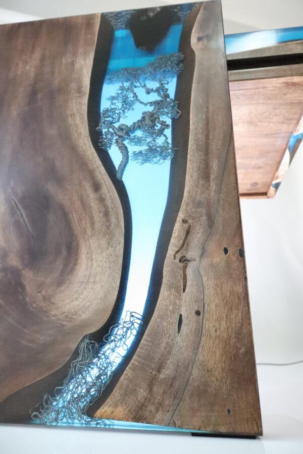 műgyanta asztal ajándék drótfa réz acél alumínium horgany-104.5