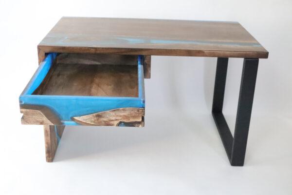 műgyanta asztal ajándék drótfa réz acél alumínium horgany-104.511