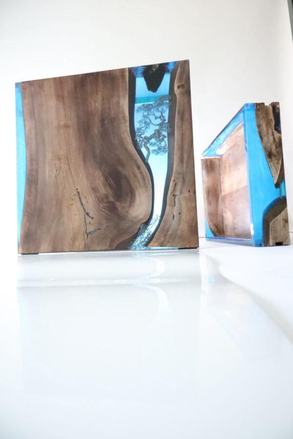 műgyanta asztal ajándék drótfa réz acél alumínium horgany-104.611