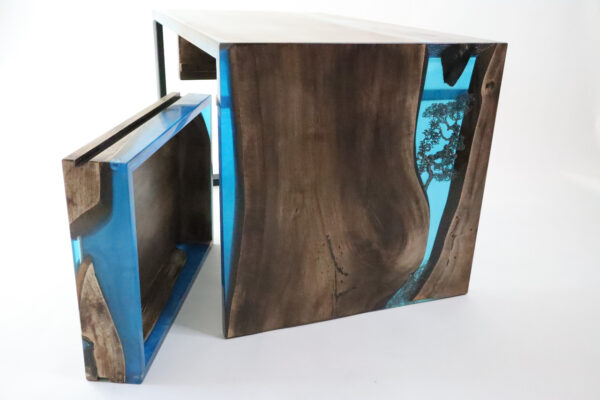 műgyanta asztal ajándék drótfa réz acél alumínium horgany-104.71