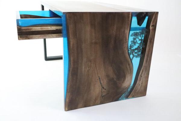 műgyanta asztal ajándék drótfa réz acél alumínium horgany-104.811