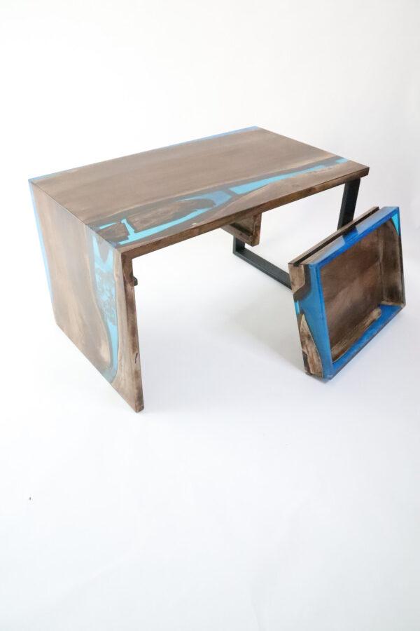 műgyanta asztal ajándék drótfa réz acél alumínium horgany-104.91