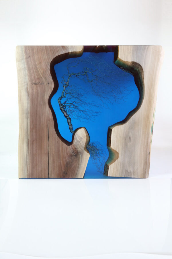 műgyanta asztal ajándék drótfa réz acél alumínium horgany 109.19