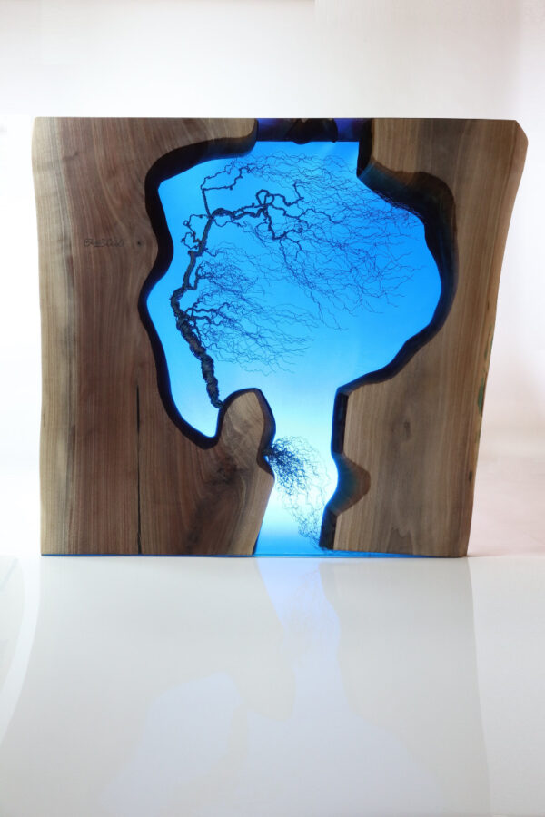 műgyanta asztal ajándék drótfa réz acél alumínium horgany 109.20