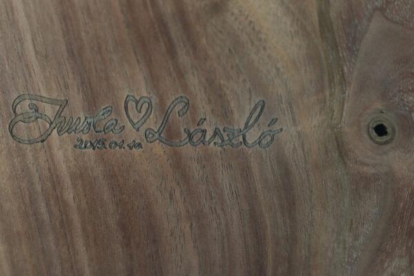 műgyanta asztal ajándék drótfa réz acél alumínium horgany 109.3