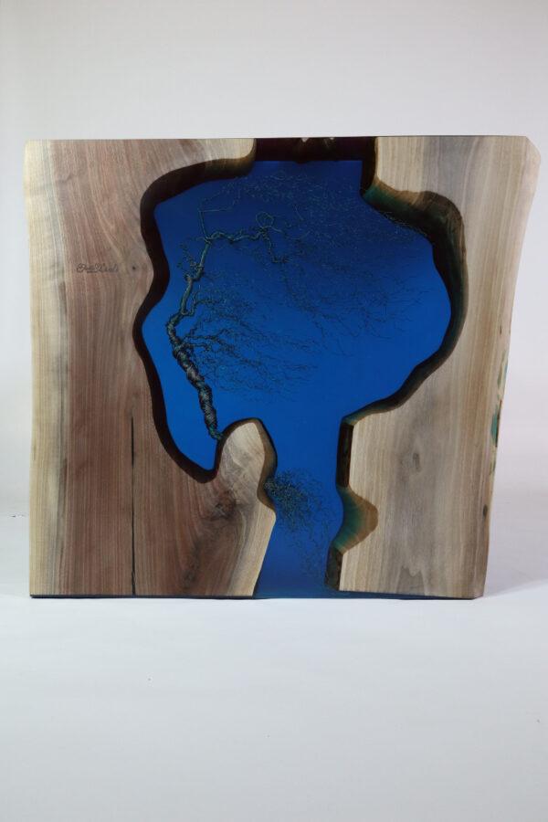 műgyanta asztal ajándék drótfa réz acél alumínium horgany 109.6