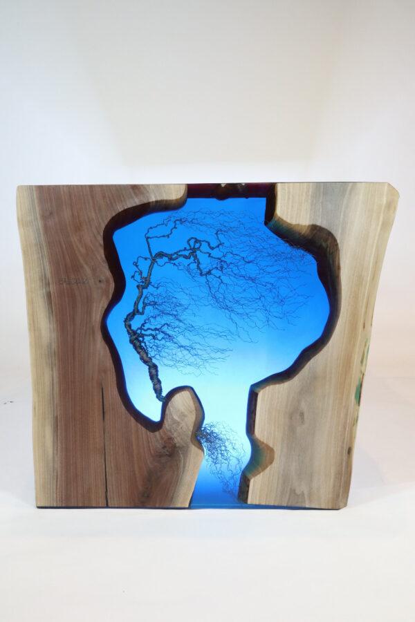 műgyanta asztal ajándék drótfa réz acél alumínium horgany 109.7