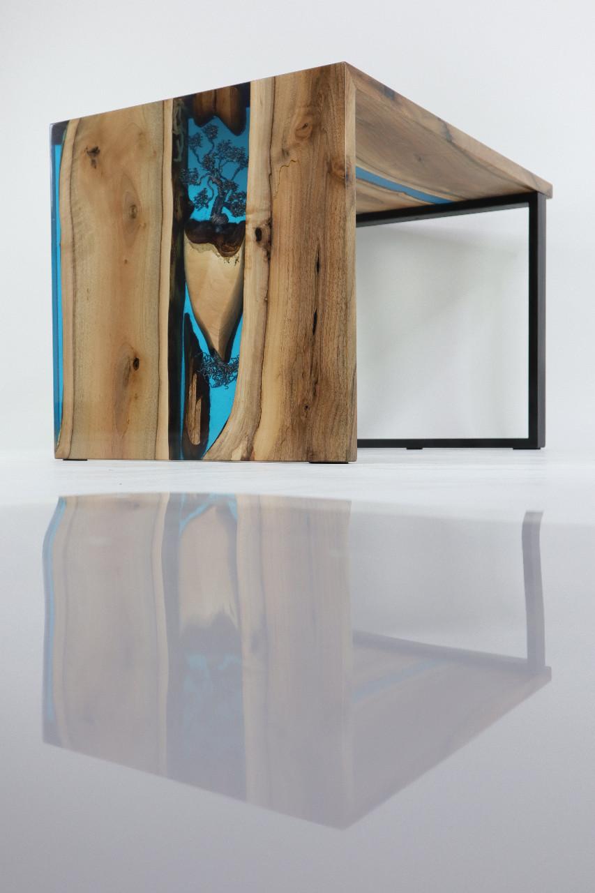 műgyanta asztal ajándék drótfa réz acél alumínium horgany-93.10