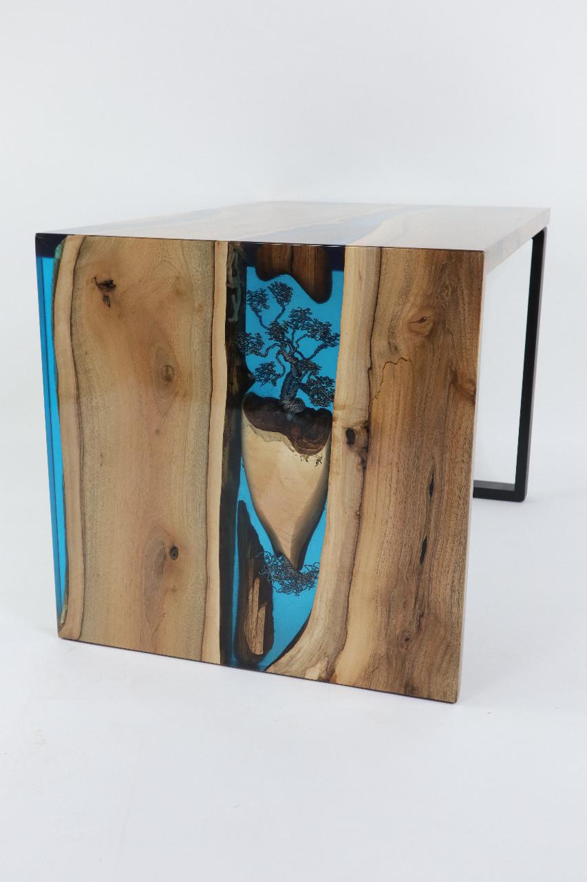 műgyanta asztal ajándék drótfa réz acél alumínium horgany-93.9