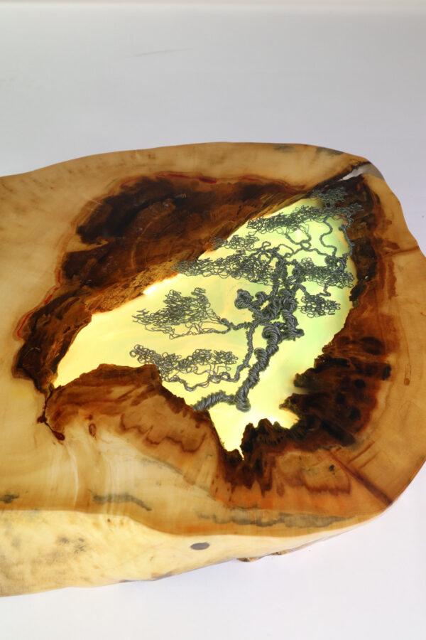 műgyanta epoxy lámpa ajándék drótfa led lámpa réz acél alumínium horgany-108.5