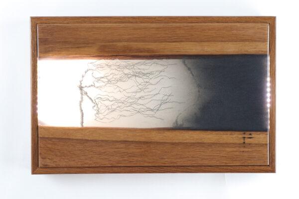 műgyanta lámpa ajándék drótfa réz acél alumínium horgany 95.6