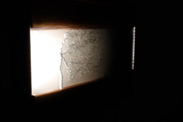 műgyanta lámpa ajándék drótfa réz acél alumínium horgany 95.7